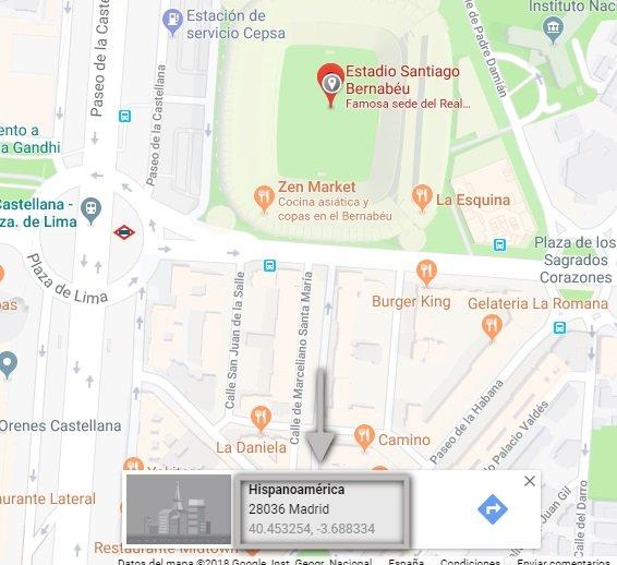 Conseguir coordenadas de una ubicación en google maps II