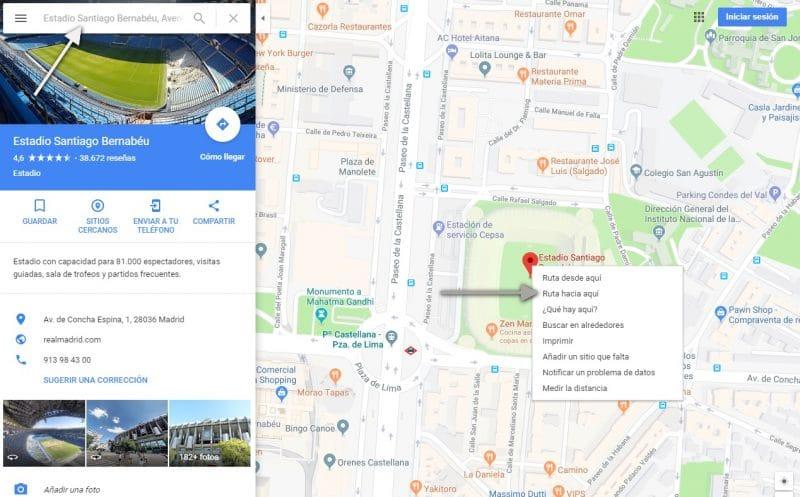 Conseguir coordenadas de una ubicación en google maps