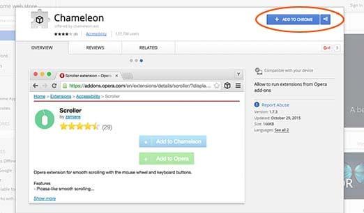 Instalar Chameleon en Chrome