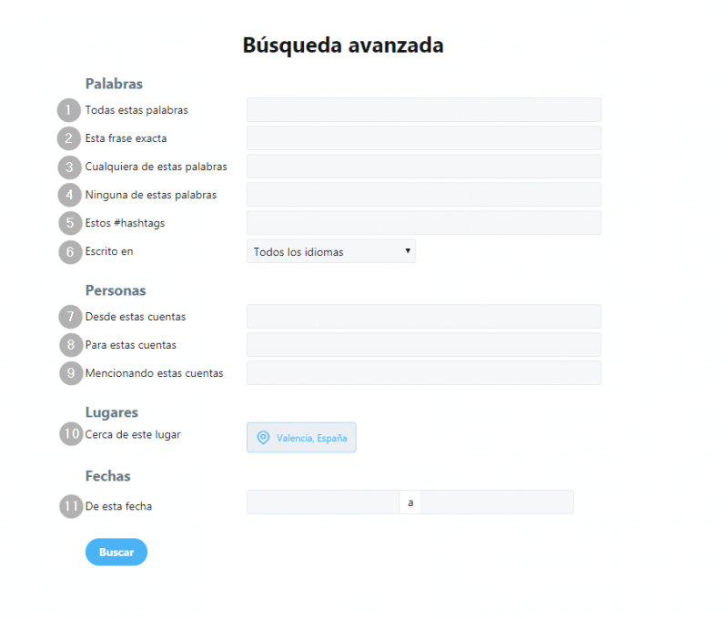 Búsqueda avanzada de Twitter