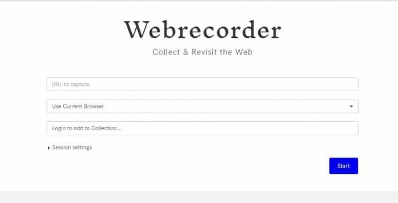 Plataforma online de archivo web