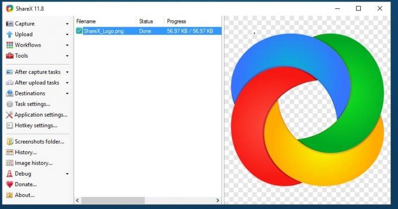 Programas de escritorio de capturas de pantalla