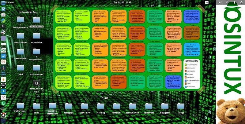 Sistema operativo OSINT osintux