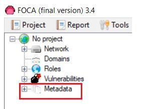 Extraer metadatos con Foca