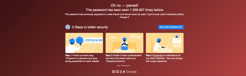 haveibeenpwned password