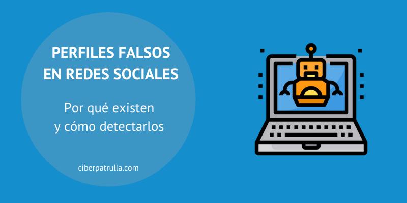 perfiles falsos en redes sociales