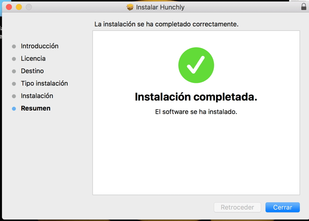 instalar hunchly